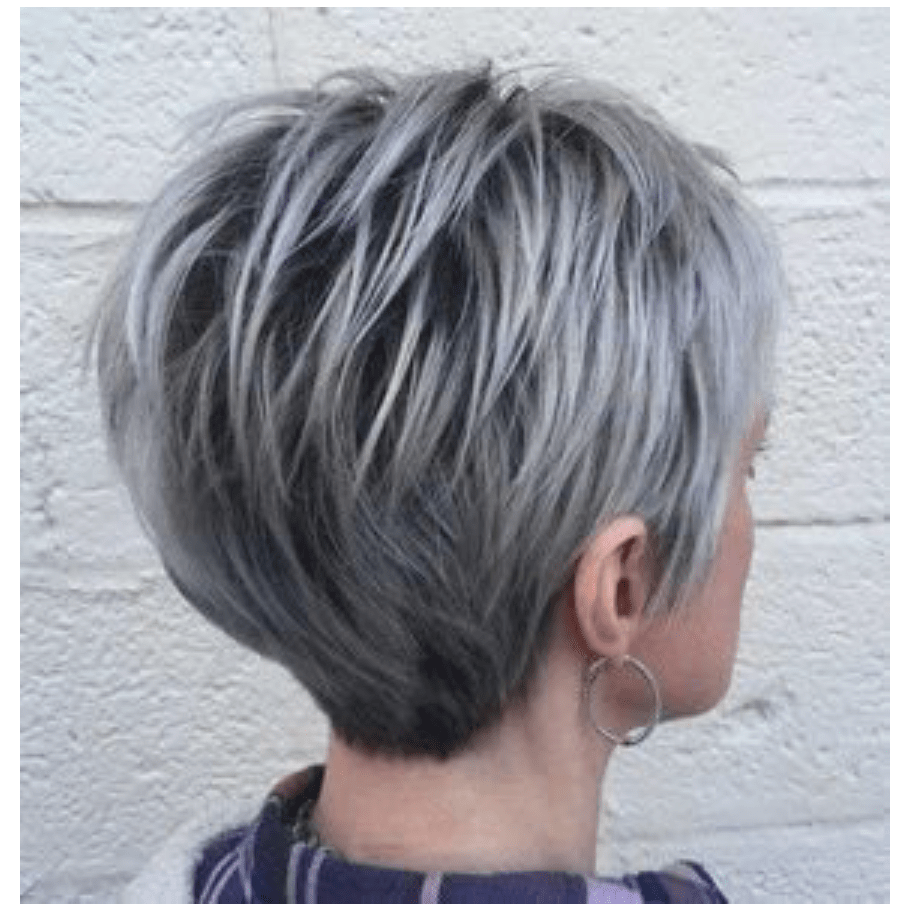 Stylish Grey Hairdos